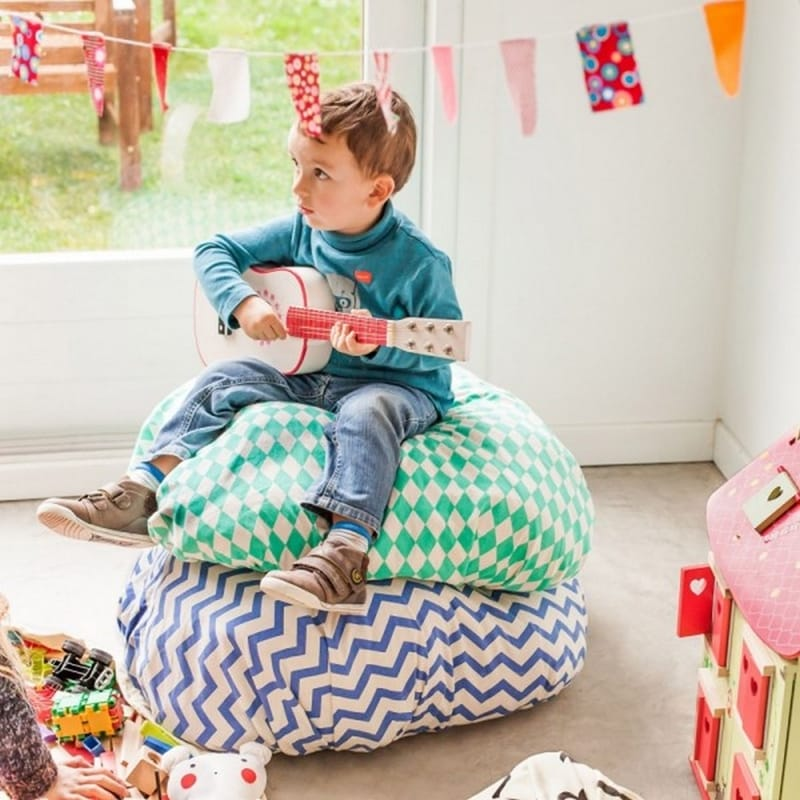 Play&Go Opberg- en speelkleed Zigzag Blue