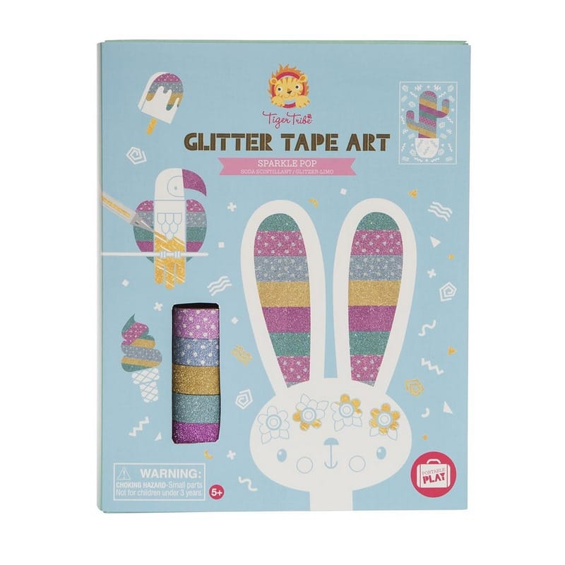 Tiger Tribe glitter tape kunst