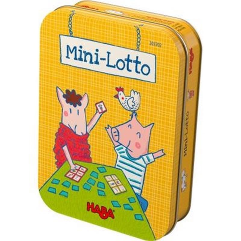 Haba mini-lotto in blikje