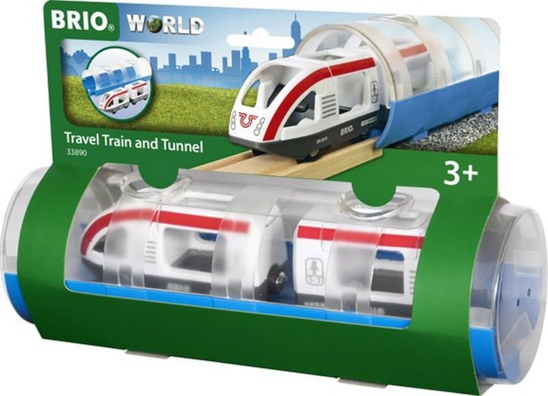 Brio Travel trein met tunnel